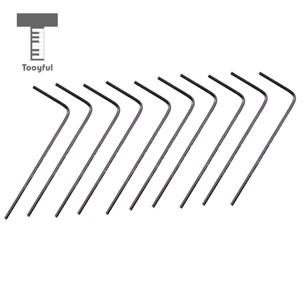 10 Pieces Guitar Bridge Saddle Iron Hexagon Hex Wrench 1