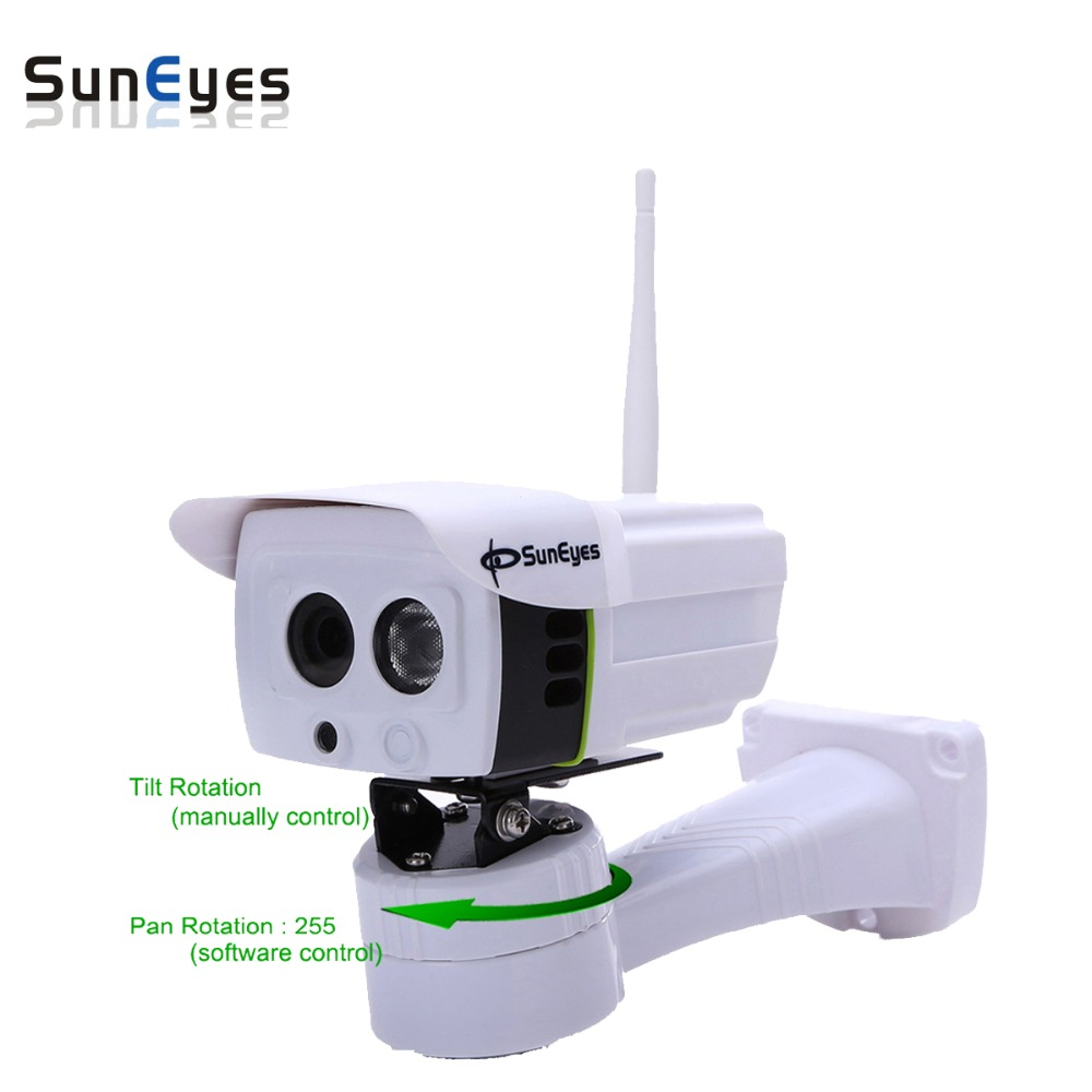SunEyes SP-P701EWP Wireless Outdoor IP Camera Pan Rotation by Software ONVIF 720P HD with Micro SD Slot  Array IR Night Vision suneyes sp p701ewpt p1801swpt hd pan tilt rotation ip camera wireless outdoor with micro sd slot 720p and 1080p optional