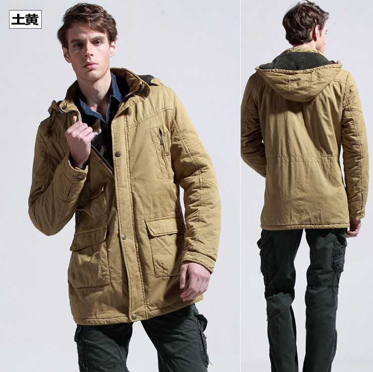 Fashion Cotton Winter Men Parka Trench Coat Hoodie Outdoor ...