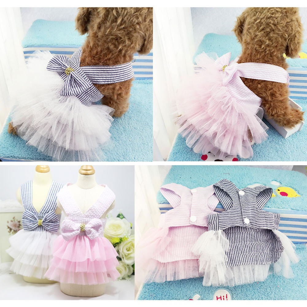 Clothes for dogs Dog Wedding Dress Puppy Princess Skirt Dog Clothes ...
