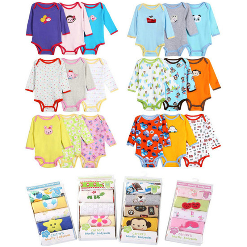 5Pcs Baby Rompers Spring Baby Boy Clothes 2017 Baby Girl Clothing Sets Cotton Newborn Baby Clothes Roupas Bebe Infant Jumpsuits