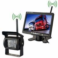 Wireless Vehicle Backup Camera IR Night Vision 7 Inch HD Monitor Car Rear View Cameras For