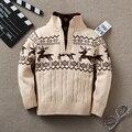 Bebé suéter niños suéter Nuevo invierno niños jerseys de cuello alto de otoño infantil de Dibujos Animados bebé niños jersey de Cuello Alto para un niño 3