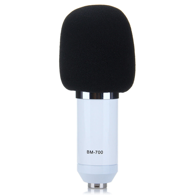 MAHA BM-700 Pro Condenser Microphone for Sound Studio white