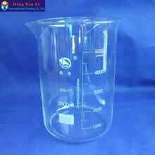 SHUNIU bicchiere di Vetro 5000 ml, Laboratorio bicchiere da 5000 ml, basso modulo con laurea e beccuccio Boro 3.3 di Vetro Cinese famosa marca