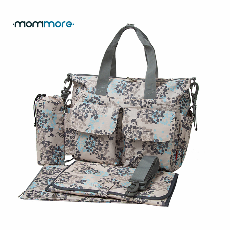 mommore 5pcs diaper bag deluxe designer nappy bag changing pad mother tote bags mummy handbags. Black Bedroom Furniture Sets. Home Design Ideas
