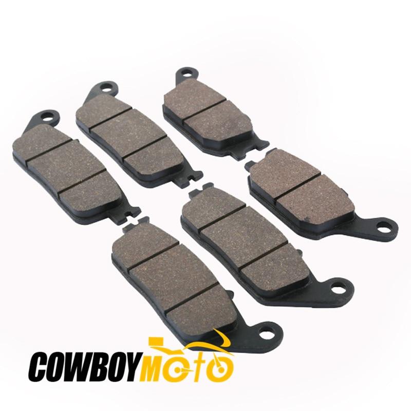 Motorcycle Sintered Semi-Metallic Front Rear Brake Pads For HONDA VT 1100 C2 SHADOW VT1100 C2 1995 -