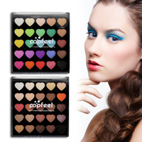 Popfeel 2017 New Professional Eyeshadow Glitter Matte Eye Shadow Comestic 25 Colors Make Up Set Nudes