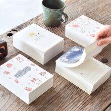 かわいい 375 Papelaria 枚メモパッド注毎日日記毎週プランナーノートブックメモ帳