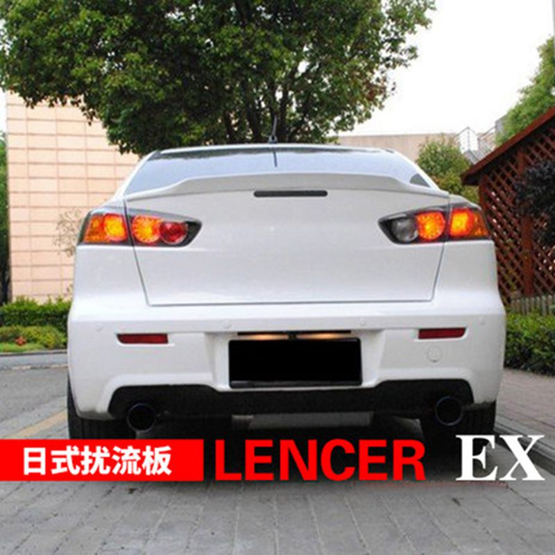 rear evo matte item fit awesomeamazinggreat spoiler wing awesome mitsubishi flat trunk lancer black specifics product