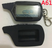 Two way A61 LCD Remote Control Key Silicone Key case for Anti theft Twage StarLine A61