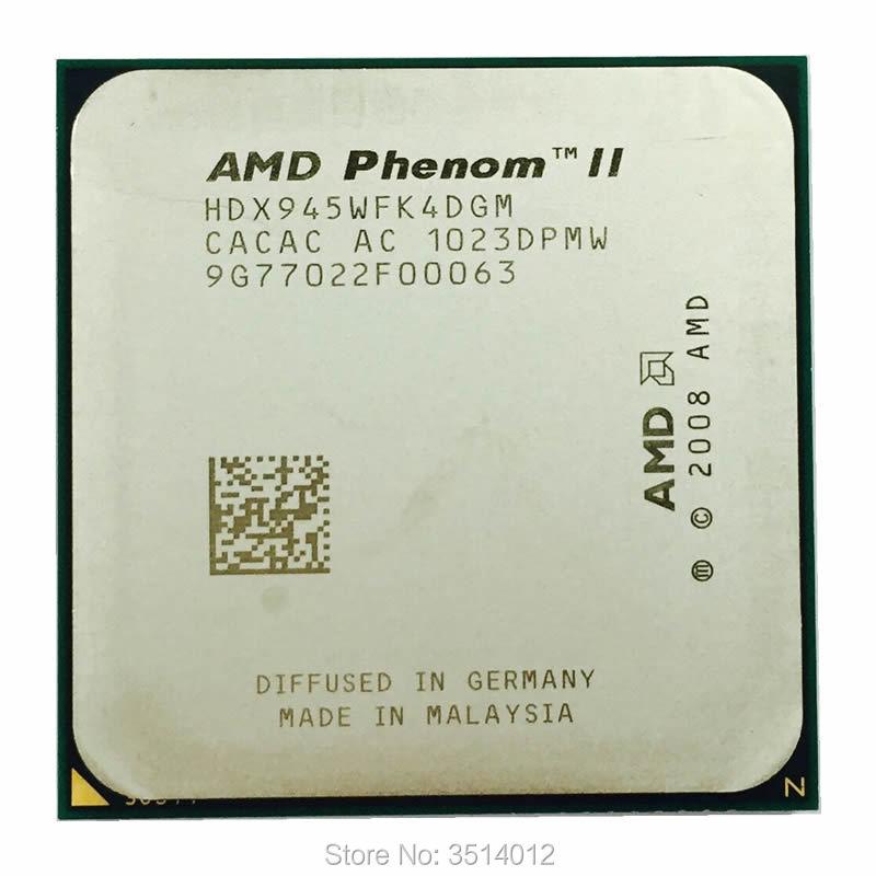 AMD Phenom II X4 945 95W 3.0GHz Quad-Core CPU Processor HDX945WFK4DGM Socket AM3