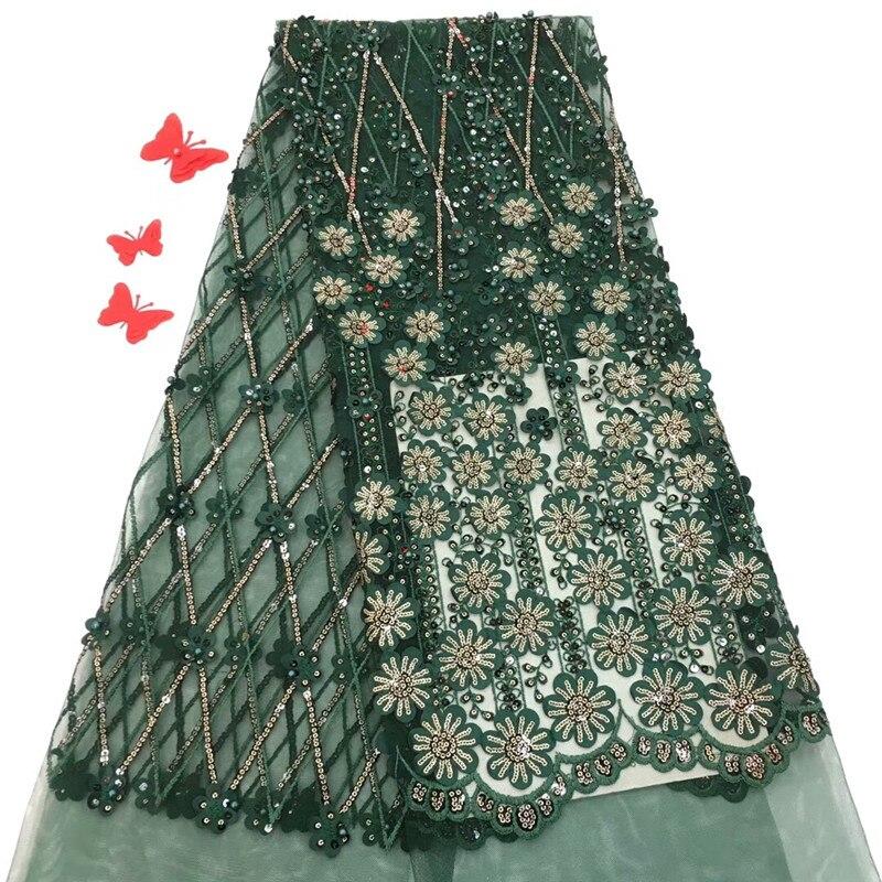 Nigeryjczyk koronki tkaniny 2018 francuski netto koronki tkaniny afryki koronki tkaniny wysokiej jakości 3D kwiat koronki aplikacja na wesele rf10 57 w Koronka od Dom i ogród na  Grupa 1