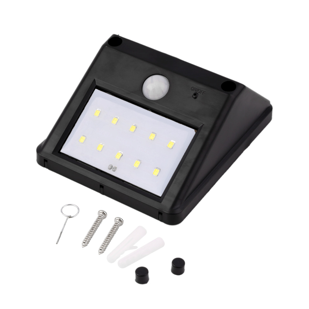 Provided Super Bright 10-led Solar Light Motion Sensor Wall Light Outdoor Waterproof Garden Lamp Energy Saving Pathway Light Wholesale Outdoor Lighting Lights & Lighting