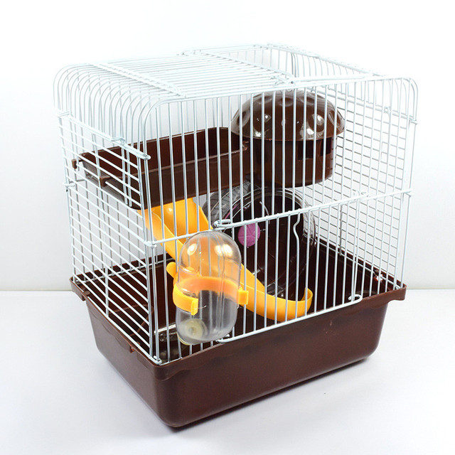 2017 Villa Cage For Hamsters Super Hamster Cage Plastic Guinea Pig House Hamster Cage Accessories Pet Hamster Toys Jaula Pigs