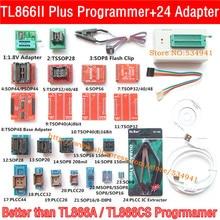 XGecu V10.22 TL866II Plus 프로그래머 + 24 어댑터 소켓 교체 USB EEPROM 범용 minipro TL866CS TL866A nand 프로그래머