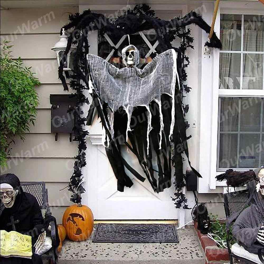 OurWarm 100 60cm Halloween Hanging Ghost DIY Decorations Creepy Haunted House Props Skull Devil Horror Halloween Decorations