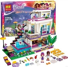 bela 10498 friends series livi's pop star house building blocks andrea mini-doll figures toy compatible with friends 41135