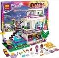 Bela 10498 Amigos Série Livi Pop Star Andrea figuras mini-boneca Blocos de Construção Casa de Brinquedo Compatível Com Legoe amigos 41135
