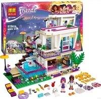 619PCS Bela Girl Friends Livi S Pop Star House 41135 Building Kit Set Blocks Compatible Legoe