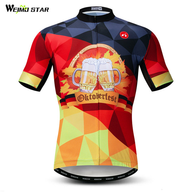 ba18b2937 Weimostar Germany Beer Cycling Jersey Team Sport Cycling Clothing  Breathable Bicycle Shirt Summer Men s Mountain Bike
