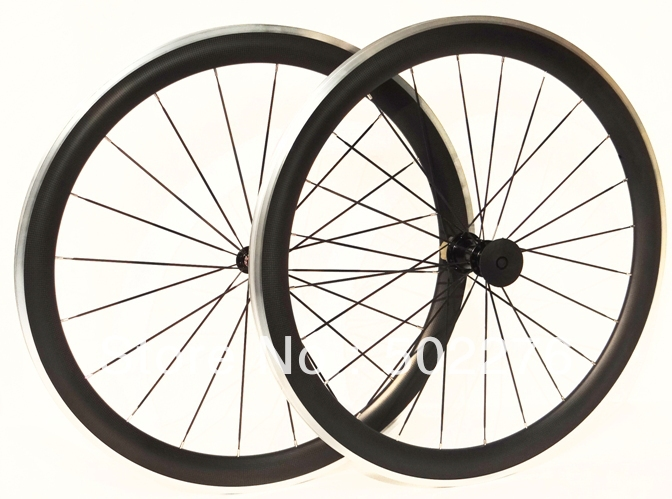 Full Carbon Matt Road Bike Clincher wheelset 50mm Wheel Rim with Alloy side