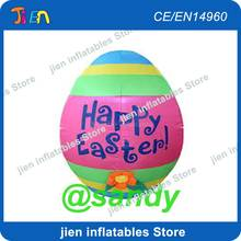 free air ship to door,happy easter decoration 10ft/3m giant inflatable kinder egg model(China)