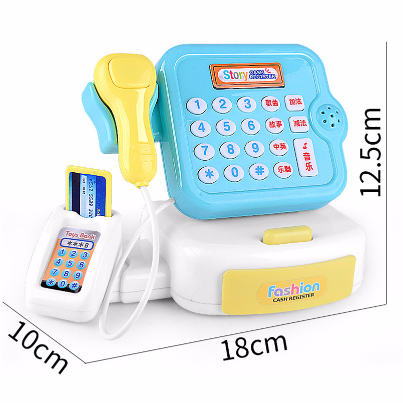 Plastic Mini Simulated Supermarket Checkout Counter Role Girls Cash Register Machine Toys Educational Pretend Play Kids Toys Multan