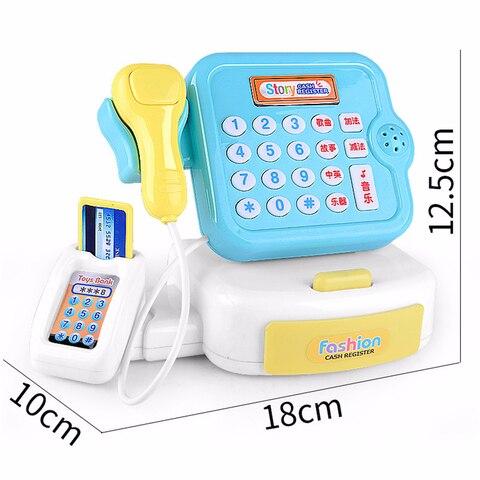 Plastic Mini Simulated Supermarket Checkout Counter Role Girls Cash Register Machine Toys Educational Pretend Play Kids Toys Multan