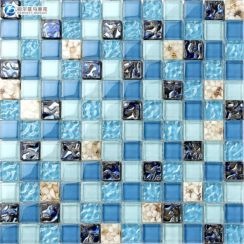 Aliexpress Com Buy Sea Shell Crystal Glass Mosaic Mosaic