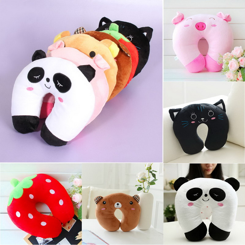 Comfortable U Shaped invention Multi-Color Cartoon Travel Pillow Neck Support Head Rest Cushion 28cm x 28cm x 10 cm