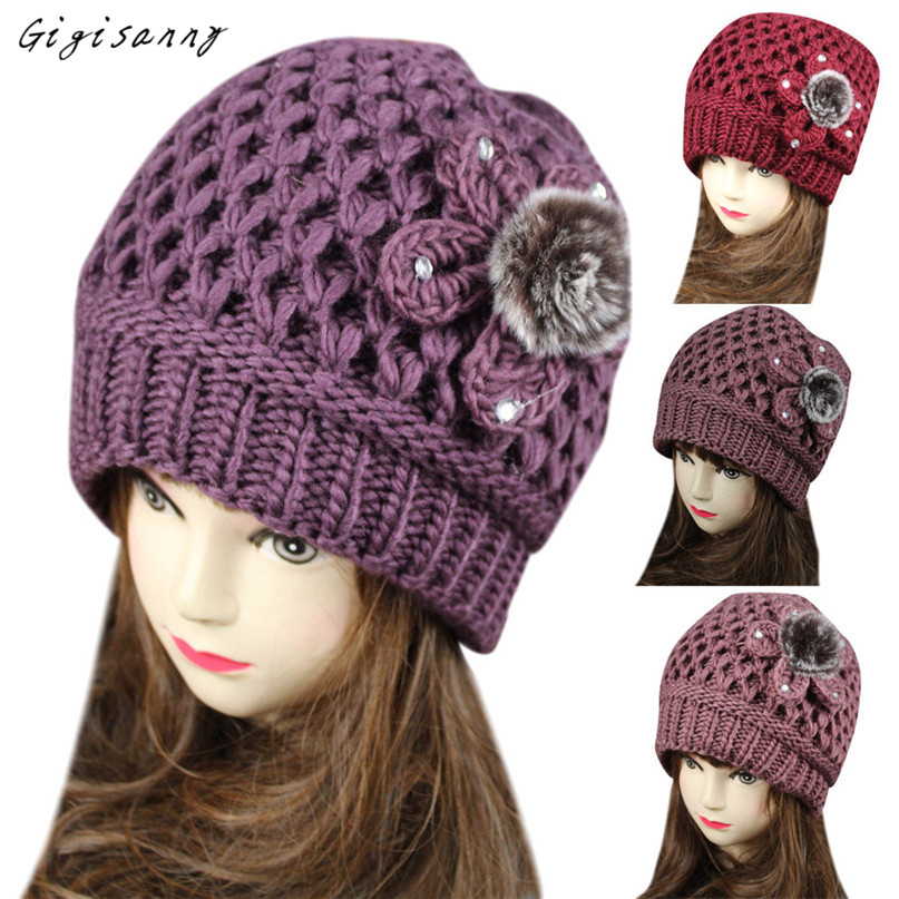 2017 Fashion Women Hat Winter Warm Crochet Knit Beanie Beret Baggy Winter Hat Beanies Female Hot Selling,Dec 21 no country for old men