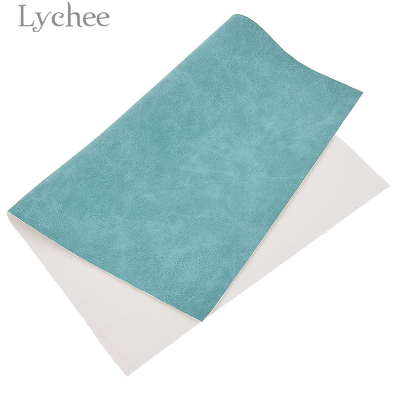 Lychee Life 21x29cm A4 Faux Suede PU Leather Fabric For Garment Waterproof Synthetic Leather Fabric DIY Sewing Material 6