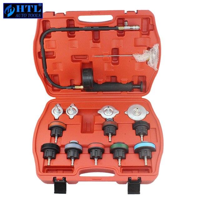 14 PC voiture outil universel réservoir d'eau détecteur radiateur système de refroidissement testeur de pression Kit