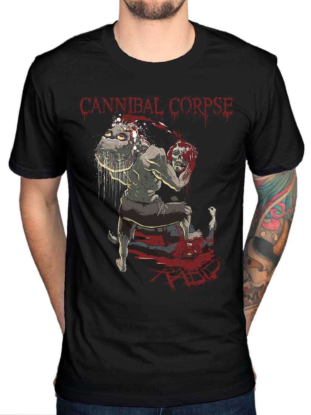 Official Cannibal Corpse Rabid Skeletal Domain T Shirt Band Metal Bloodthirst