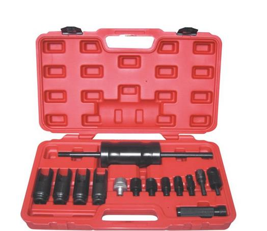 14PC Injector Extractor W/Slide Diesel Engine Injector Common Rail Adaptor Slide Hammer Extractor Removal Puller Tool Set diesel common rail 00986ad1023 injector assembly quality is good