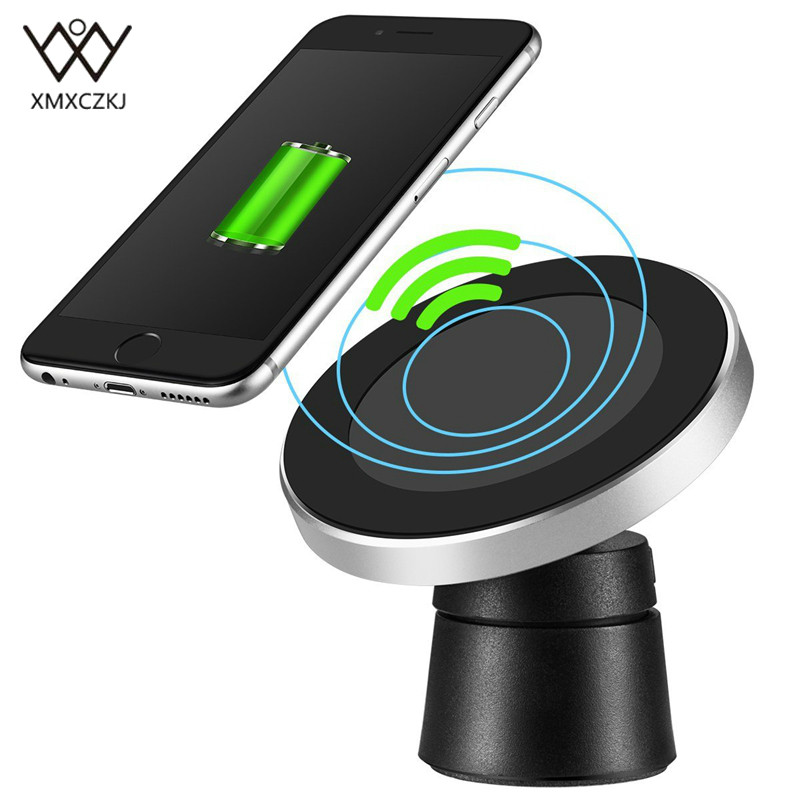 Car Mount Qi Wireless Charger For Samsung Note 8 S8 S7 For iPhone X 8 8 Plus Wireless Charging Magnetic Air Vent Phone Holder|Phone Holders & Stands| |  - title=
