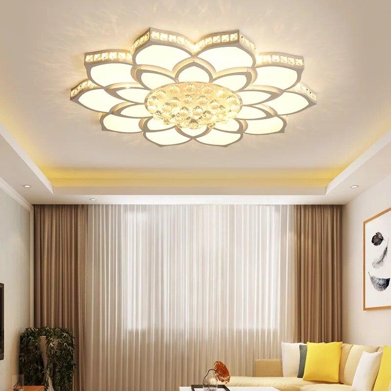 Хрустальная Современная светодио дный светодиодная Люстра для гостиной спальни кабинет светильники акриловая светодио дный стильная свет...