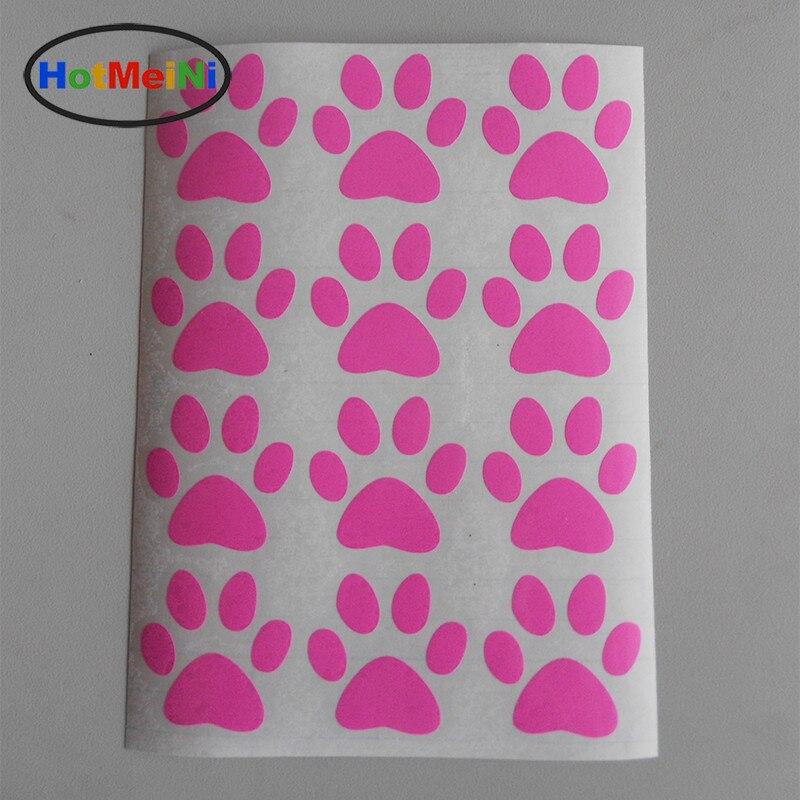 HotMeiNi 11.6 * 17.5 CM Hot Sale Uppsättning av 12 Dog Paw Prints - Exteriör biltillbehör - Foto 2