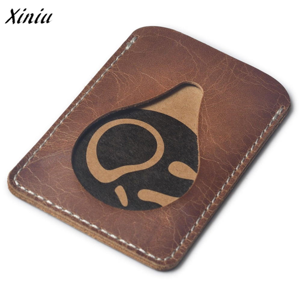 luxury brand famous Leather Credit Card Holder Leather ID Card Holders Men Business ID Wallet Slim Wallet for boyfriend fashion solid pu leather credit card holder slim wallet men luxury brand design business card organizer id holder case no zipper