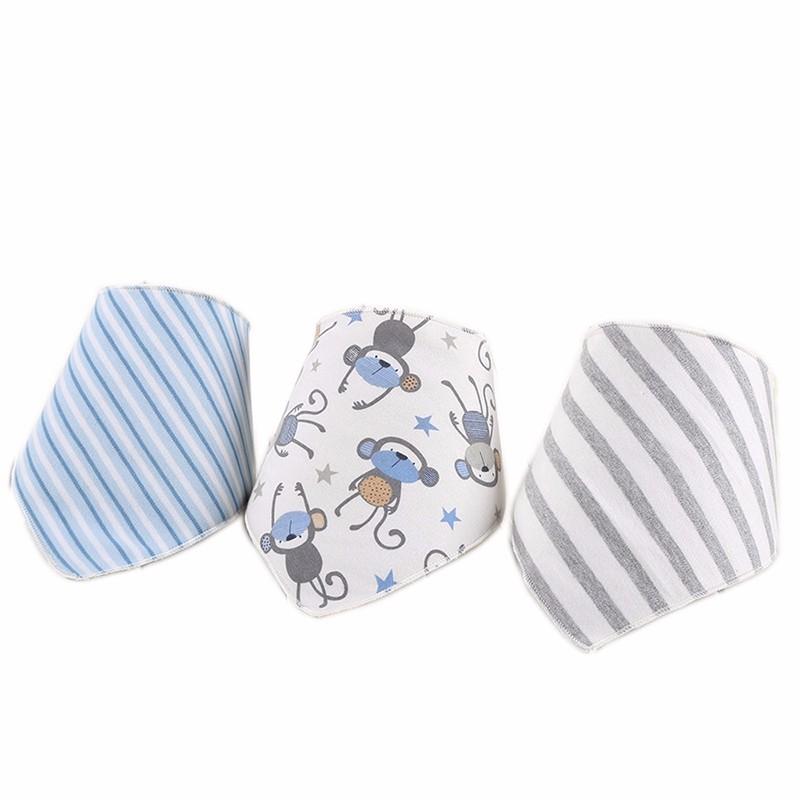 3pcsset Baby Bibs Cotton Bandana Bibs Newborn Baby Girls Boys Infant Babador Saliva Bavoir Towel baberos bebes Babadores WZ001 (3)
