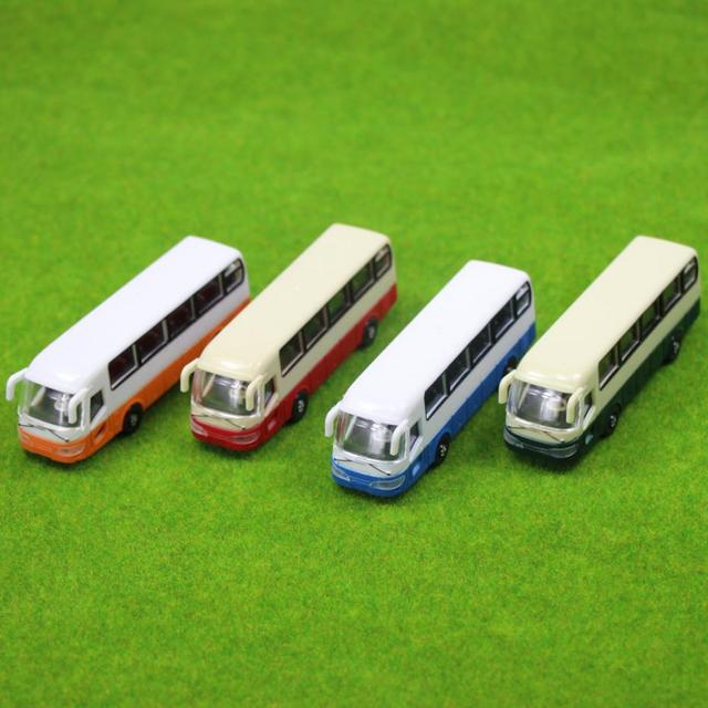 2pcs Model Cars Buses 1:100 TT HO Scale Railway Layout Plastic NEW Free Shipping  BS10001  railway modeling 1