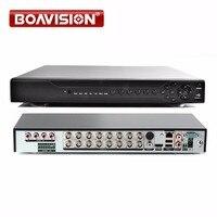 Гибридный 5 в 1 CCTV 16CH AHD DVR CVI TVI 1080 P/1080N цифрового видео Регистраторы NVR сетевой монитор, 2 * HDD, xmeye P2P и CMS вид