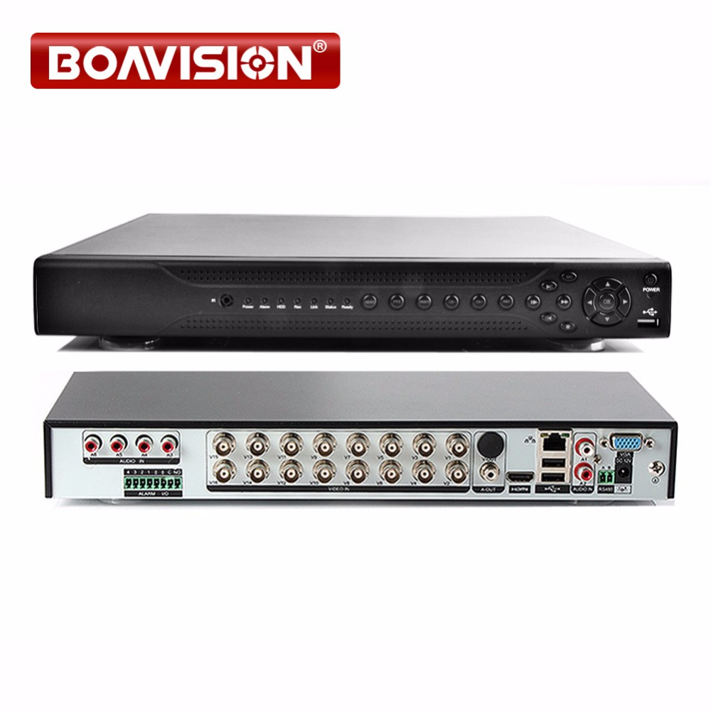 Hybrid 5 IN 1 CCTV 16CH AHD DVR CVI TVI 1080P/1080N Digital Video Recorder NVR Network Monitor, 2*HDD, XMEYE P2P & CMS VIEW