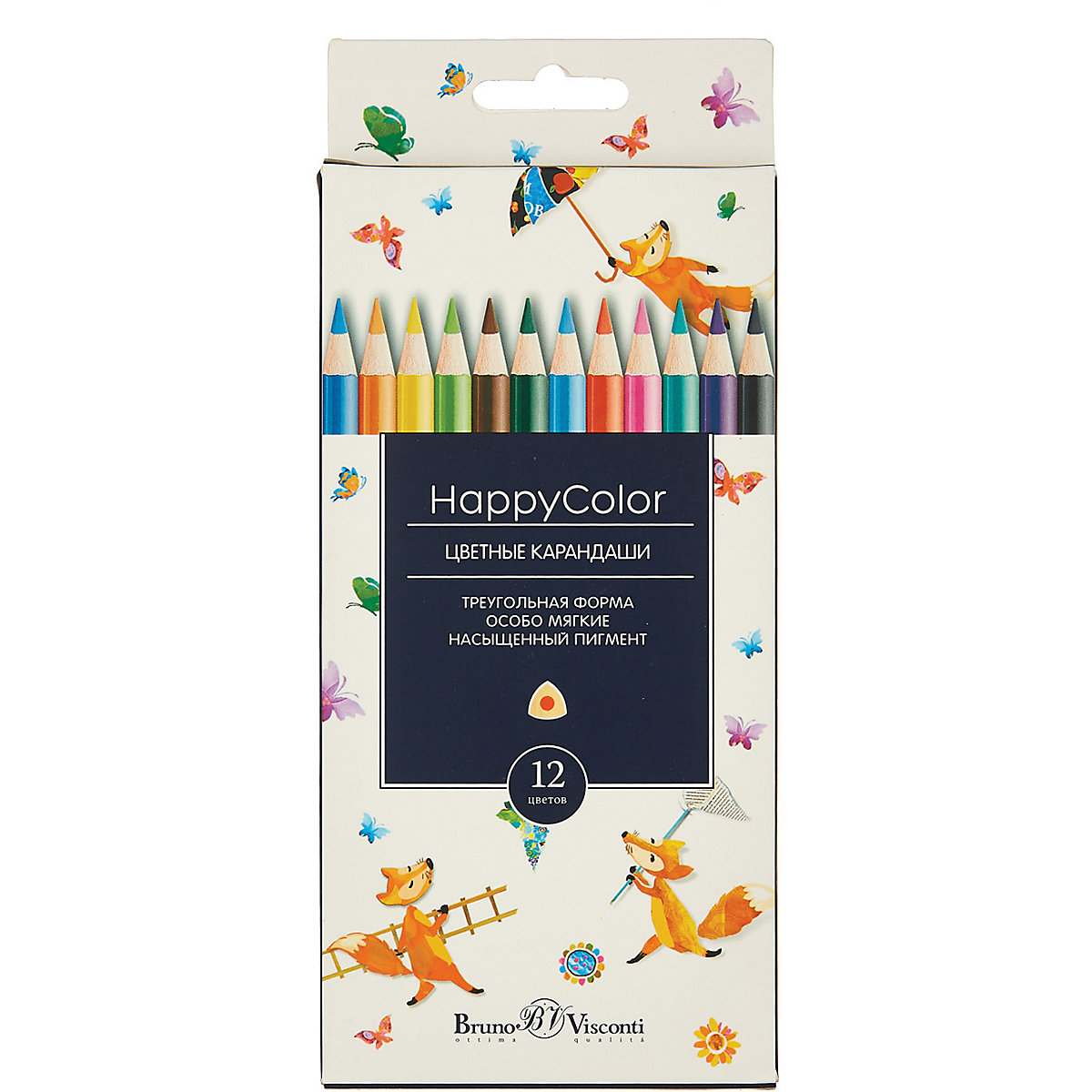 BRUNO VISCONTI Wooden Colored Pencils 11857937 colored pencil for boys and girls children sets MTpromo