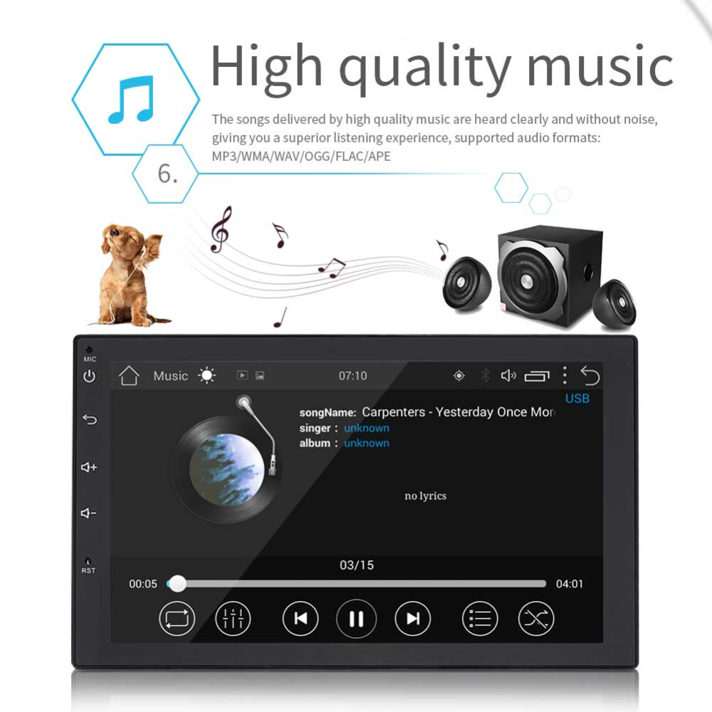 Podofo 2 Din Android 80 Universal Car Radio Gps Navigation Audio Stereo F1 F2 F4 F3 F5