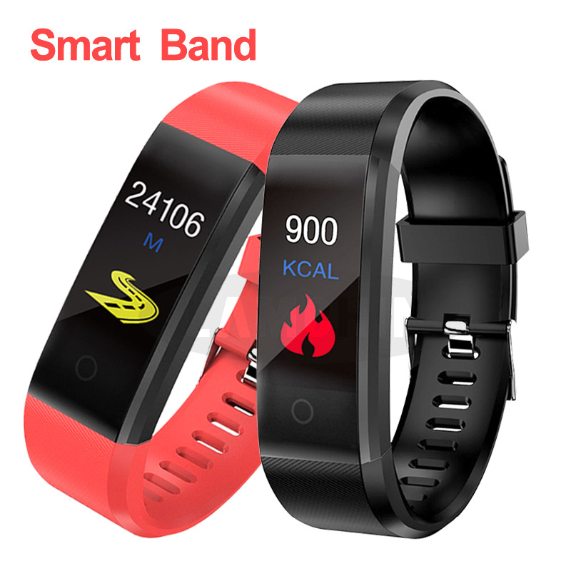 Smart Bracelet Sport Bluetooth Wristband Heart Rate Blood Pressure Smart Band Activity Fitness Tracker Smartband