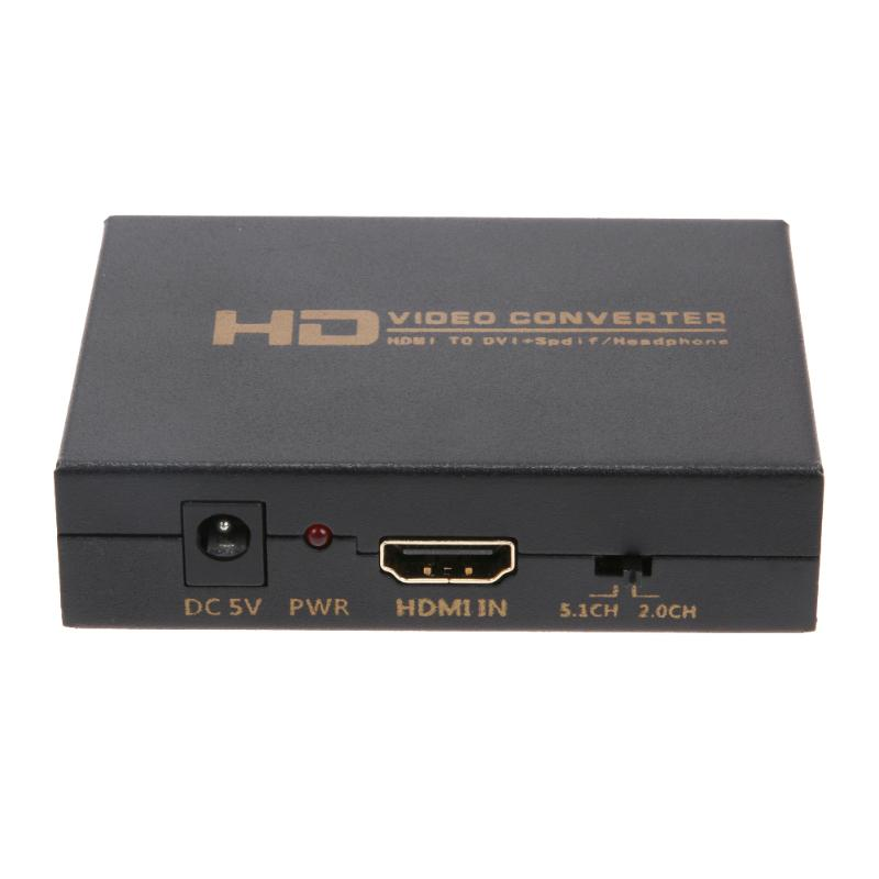 High Definition HDMI to DVI HD HDMI to DIsplayPort Optical Fiber to HDMI Converter Hub US/EU Plug for TV Projector Monitor techlink wiresnx hdmi plug to dvi plug 5m 690305