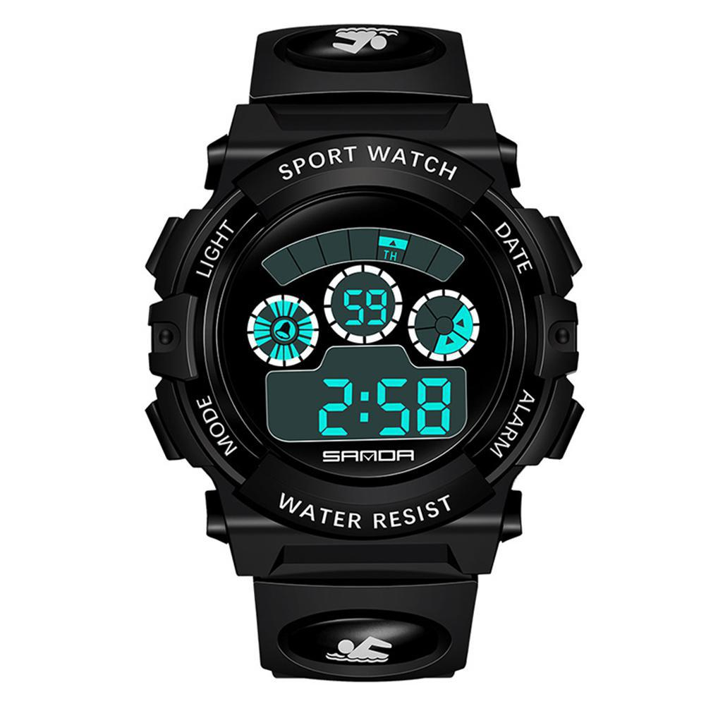 Sanda Watch Led-Display Sports Electronic Waterproof Students Gift Outdoor San0 Men