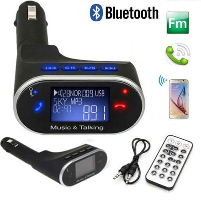 Aliexpress Com Buy Marsnaska High Quality Car Bluetooth Fm Music Receiver Car Bluetooth: Wireless Bluetooth Receiver Car Kit Mp3 Player FM Transmitter LCD Display With USB/SD/Card